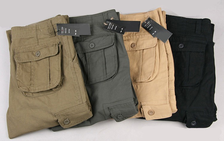 Pants Men Cargo Trousers Mens Casual Multi Pocket Military Overall Outdoors Loose Long Trousers Joggers Army Tactical Pants