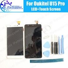 Oukitel U15 Pro LCD Display + Touch Screen 100% Original LCD Digitizer Glas Panel Ersatz Für Oukitel U15 Pro + werkzeuge + adhesive