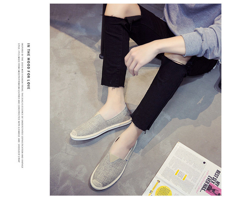 HTB1KwAJNIfpK1RjSZFOq6y6nFXaG UPUPER Breathable Linen Casual Men's Shoes Old Beijing Cloth Shoes Canvas Summer Leisure Flat Fisherman Driving Shoes Wicking