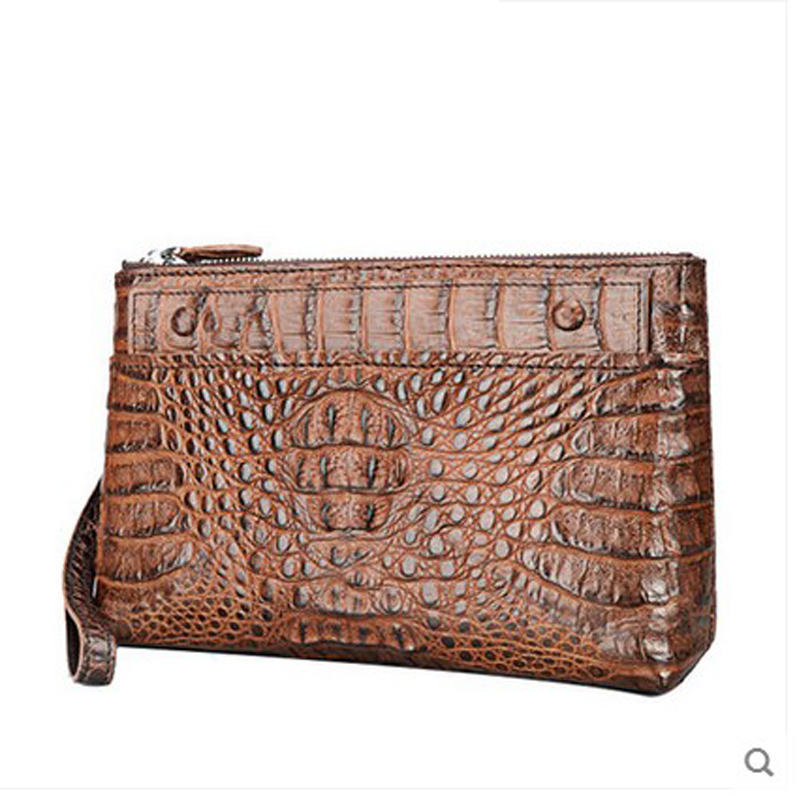 jilante Crocodile leather men clutch bag men's crocodile leather business casual men wallet large capacity multi-card new