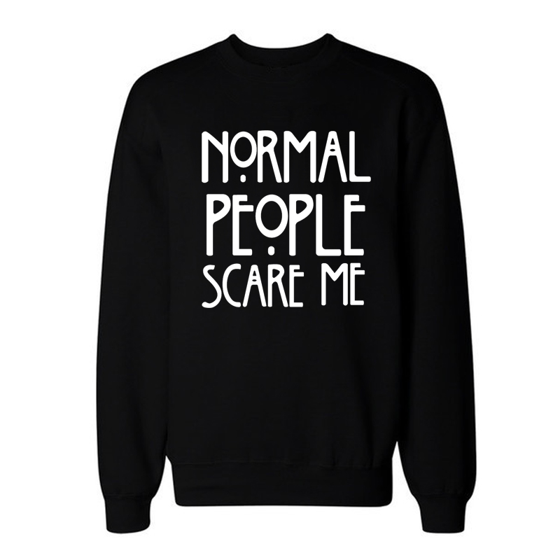 YEMUSEED H1026 NORMAL PEOPLE SCARE ME 2016 New Letters Print Funny Harajuku Tracksuit For Women Sweatshirt Hoodies 13