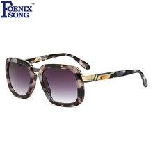 FOENIXSONG Cuadrado gafas de Sol de Diseñador de Marca Para Hombre Mujeres Espejo Gafas de Sol Unisex Gafas Gafas de Sol oculos Feminino UV400