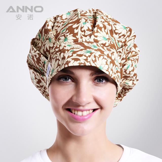 Flor de peonía Bon Cap casquillo de cuidado médico adecuado para el pelo largo con ajustable tamaño de lavado quirúrgico friega tapas
