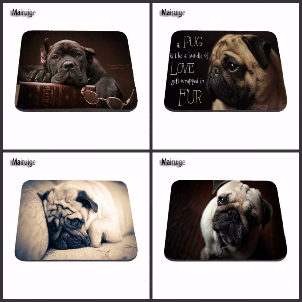 New Arrivals Fashion Customized Cute Pug Dog Gaming Mouse Pad aming Anti-Slip Durable Rubber Mousepad for PC Optal Mouse