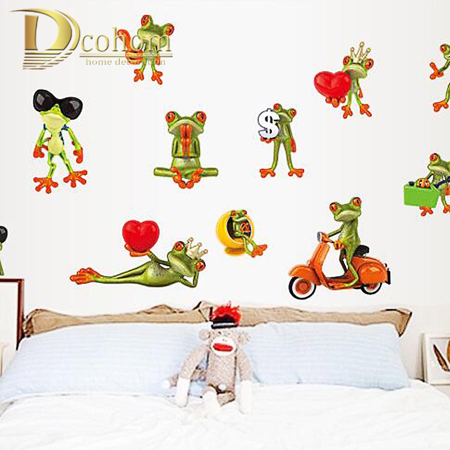 compare prices on big stickers window online shopping buy low funny big eye frog vinyl home deoration 3d diy wall sticker for kids room bedroom car