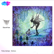 fairy forest spruce Transparent Clear Silicone Stamp Seal for DIY scrapbooking photo album Decorative clear stamps
