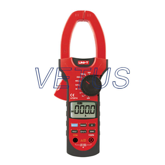 ФОТО LCD Digital clip-on Multimeter AC DC Voltage Ampere Ohm Tester UNI-T UT207A