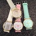 O envio gratuito de venda quente cinta Asteca assistir 100% novo GENEBRA ASSISTIR nenhum logotipo homens mulheres moda relógios, 10 pcs