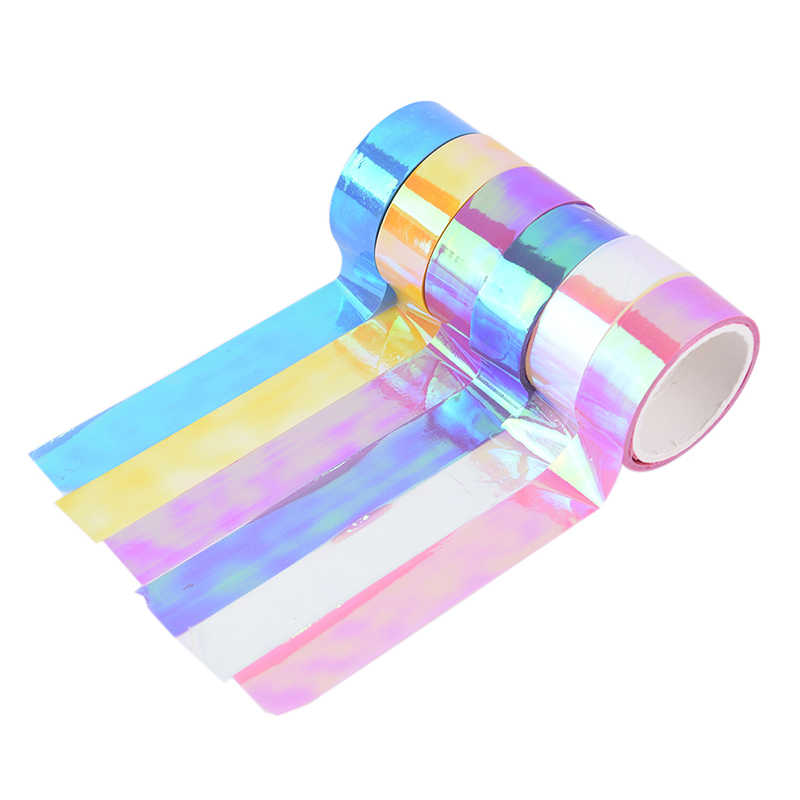 500cm Rhythmic Gymnastics Decoration Holographic RG Prismatic Glitter Tape Hoops Stick