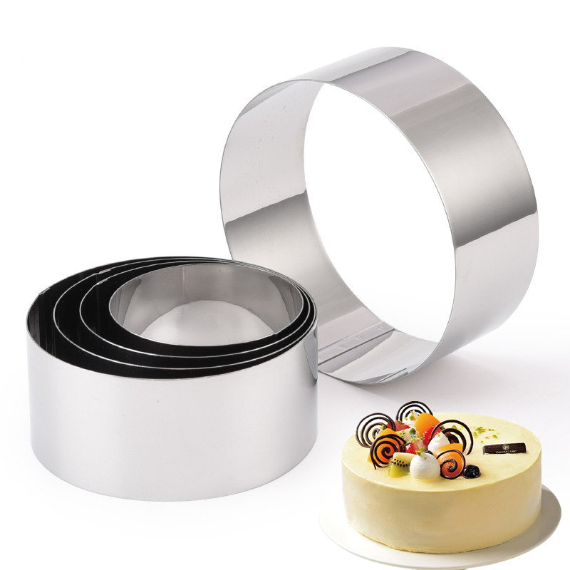 5PCS Stainless Steel Mousse Cake Ring Mold 3D Baking Dessert Cakes Cutter Tools Circle Round Mould Bakeware Forms Accessories