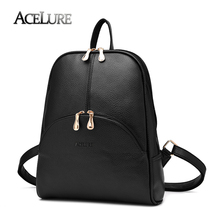 4751f40dde ACELURE Women Backpack New Arrival PU Leather Backpack Preppy Style Ladies  Bag Casual Big Schoolbag for