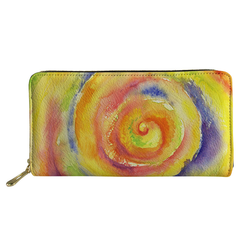 Noisydesigns Unisex Wallet Purse Coin Purses&Holders Girls Slim Rfid Wallets Paisley Print Ladies Foldable Pochette Money Bag