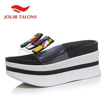 JOUIR TALONS Brand design Fashion Open Toe Platform Summer Shoes Woman Hot Sale INS High Quality Slippers