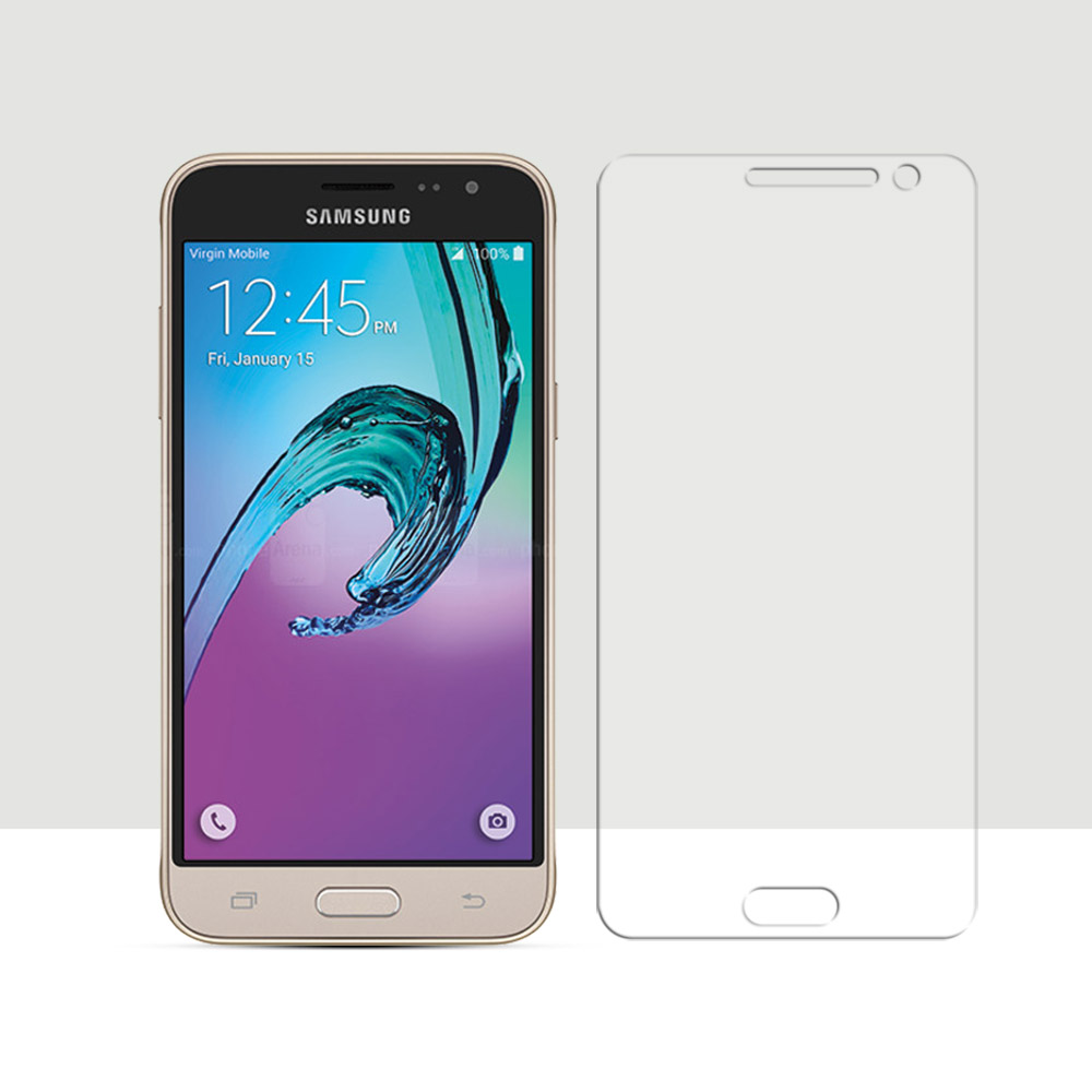 Galleria fotografica Tempered Glass For Samsung Galaxy J3 2016 J320 J320F Screen Protector Film For Samsung Galaxy J3 2016 2.5D Curved Edge Screen
