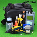 KELUSHI 20 IN 1 Fiber Optic FTTH Tool Kit with Fiber Cleaver -70~+10dbm Optical Power Meter 10km Visual Fault Lcator