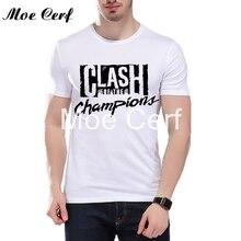2017 UK Punk Rock the clash Shirt Men Punk Rock Music Band T-shirt Men Cool Tees White Short Sleeves Youth Slim Fit Shirt L12-23