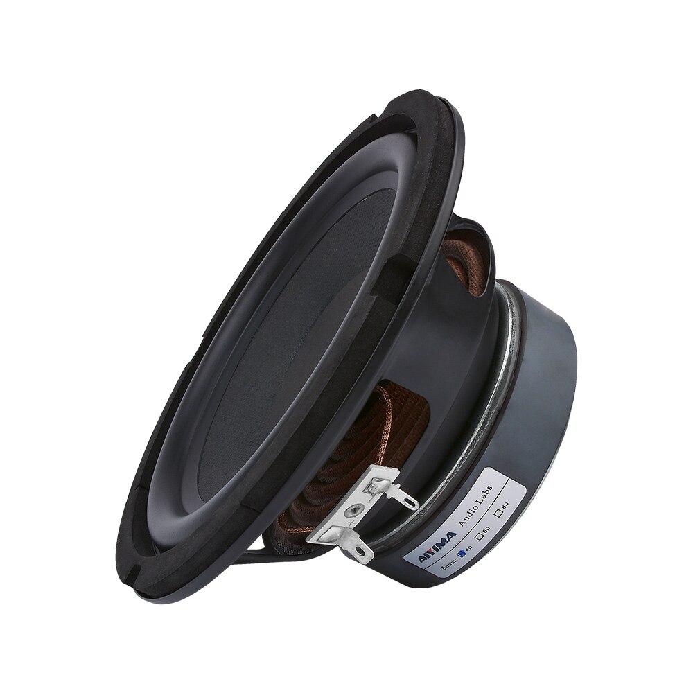 AIYIMA 6,5 Zoll Subwoofer Lautsprecher 80 W 4 8 Ohm High Power Hifi Fieber Woofer Musik Audio Bücherregal Lautsprecher DIY sound System