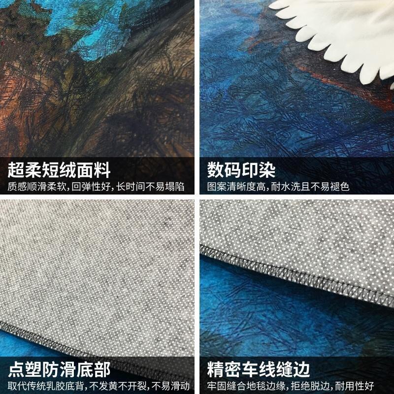 Nouveau abstrait 6mm salon canapé Foyer maison tapis chambre en peluche tapis maison tapis - 3