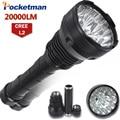 20000 Lumens LED Flashlight 15 x CREE XM-L2 LED 5 Modes Waterproof Super Bright LED Torch Flashlight  Linterna Lampe Torche Lamp