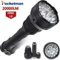 20000 Lumens Lanterna LED 15 x CREE XM-L2 LEVOU 5 modos À Prova D' Água Super Bright LED Lanterna Tocha Linterna Lampe Torche lâmpada