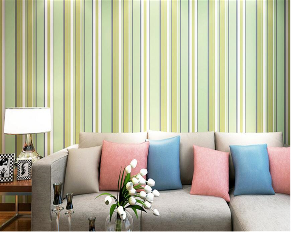 beibehang Geometric vertical stripes paper wall paper simple modern living room color cute boy children's room 3d wallpaper beibehang wallpaper vertical stripes 3d children s room boy bedroom mediterranean style living room wallpaper page 2
