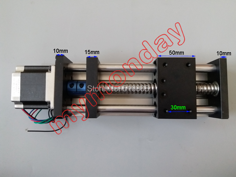 Free Shipping GGP 1605 Linear Guide Rail 16mm Ball Screw Linear CNC 57 Nema 23 stepper