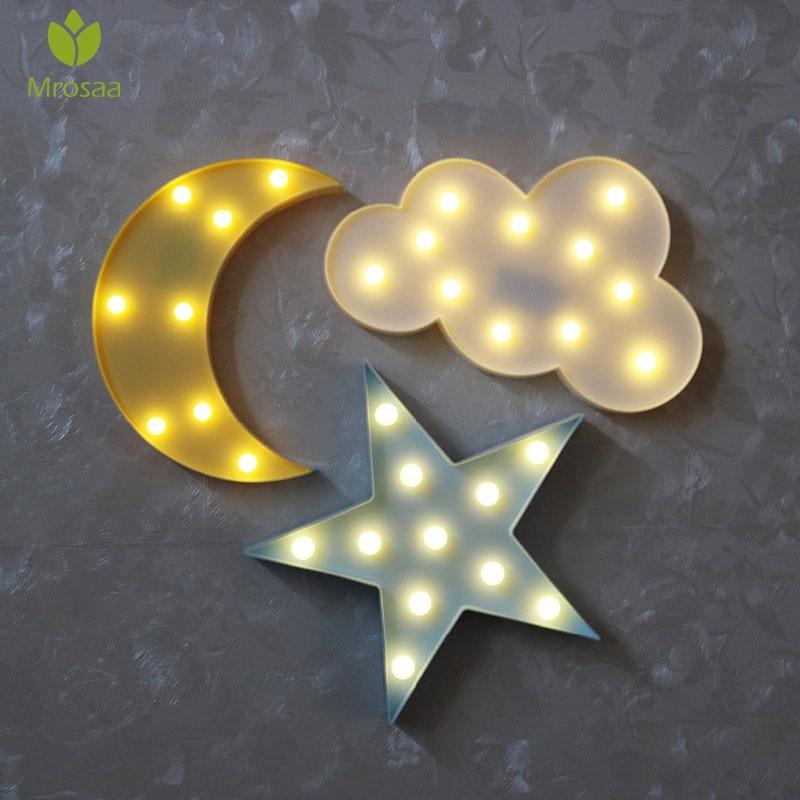Moon Lights Bedroom: Mrosaa Led Night Light For Kids Moon Star Cloud Bedroom