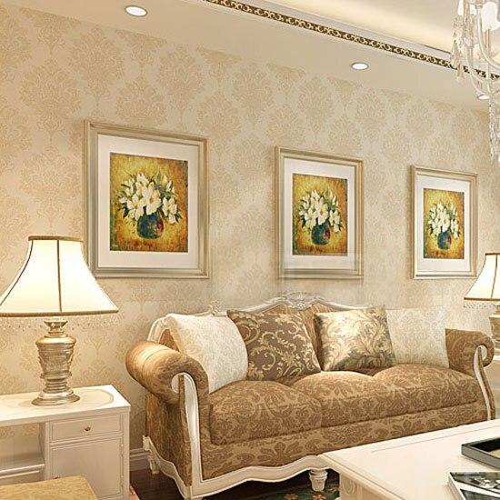 Damascus luxury European environmental non-woven wallpaper background wallpaper the living room TV sofa HA-881