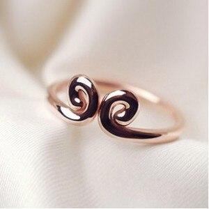 ファッション シルバー ゴールド混合愛好家女性の約束指輪卸売プロモーション安い チャーム リングジュエリー