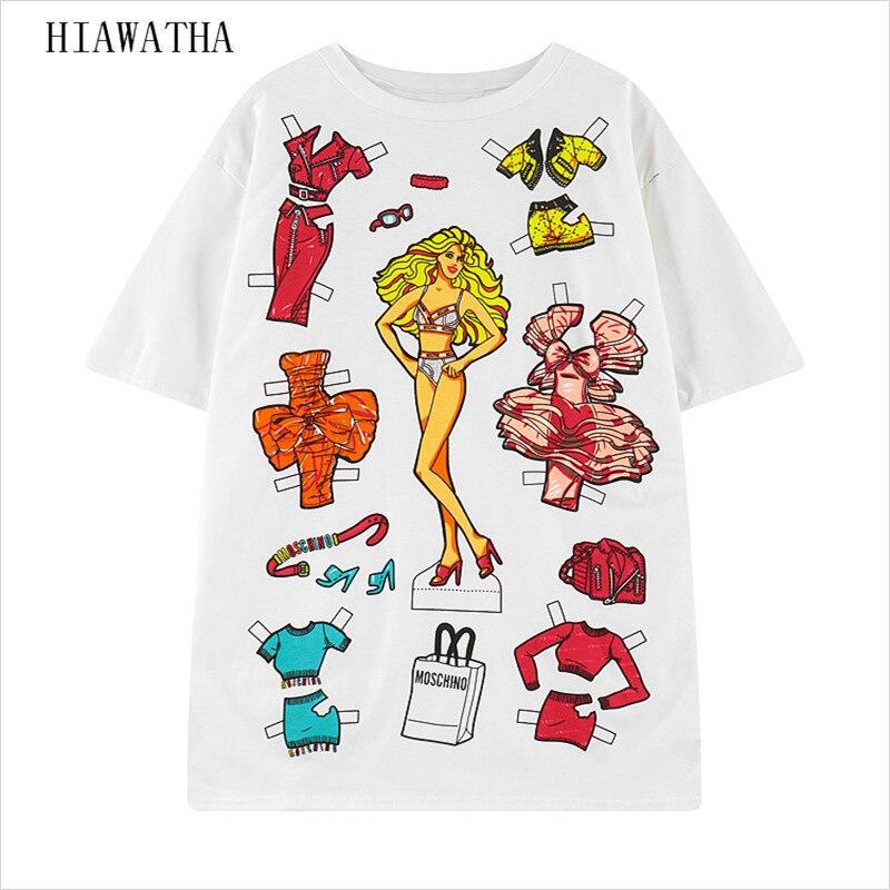 Hiawatha women 39 s character printed t shirts harajuku o for Digital printed t shirts