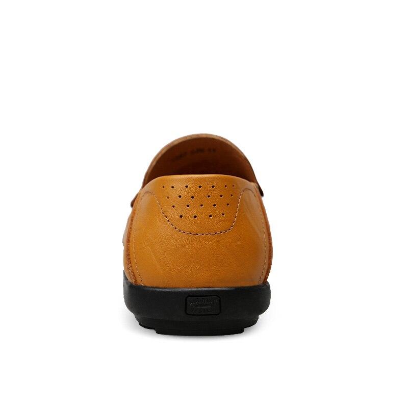 De En chocolat Marque Confortable Italien Chaussures Mâle Loisirs Luxe or Mocassins Respirant D'été Des Causales Noir Air Cuir Hommes Bateau Printemps P0q8XRx