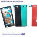 Z3 mini Передняя Рамка + Задняя Крышка Батареи для Sony Xperia Z3 Mini Compact M55W D5803 D5833 Ближний Знака Рамка полный Жилищно крышка