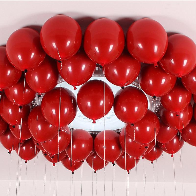 Воздушные шары из красного агата, красного цвета, металлик