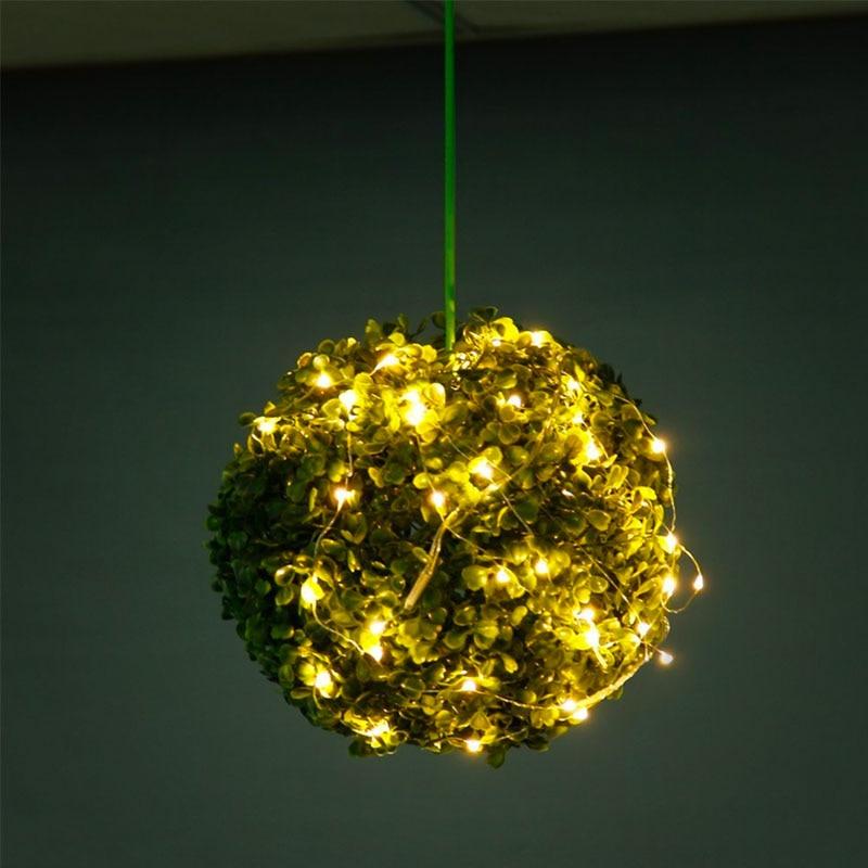 20 Micro Starry LED Koppar Wire String Lights, CR2032 Batteri Osynlig - Festlig belysning - Foto 4