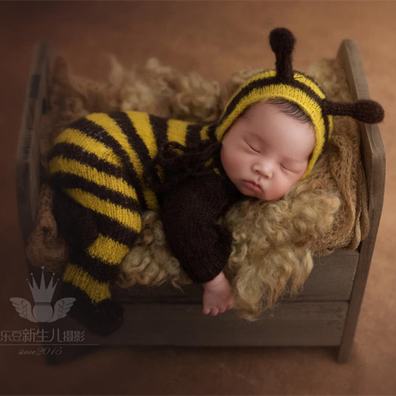 8edf17d880b Detail Feedback Questions about Newborn Baby Hat and Romper Animal Bee Bonnet  Baby Girl Overalls Newborn Pants Photography Props Infant Clothes Outfit on  ...
