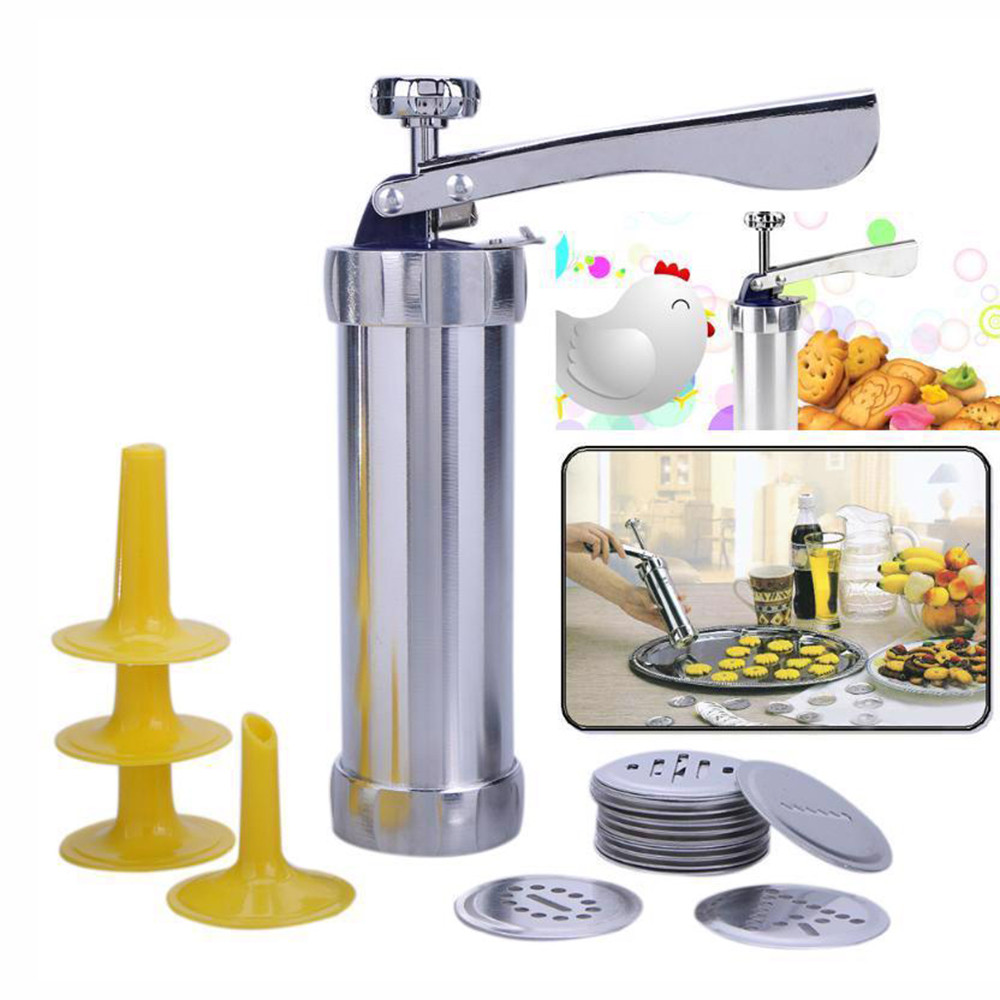 NEW Hot Sale for Home Biscuit Maker Cookies Press Cake Decorator Pump Machine Kit Icing Syringe шприц для печенья
