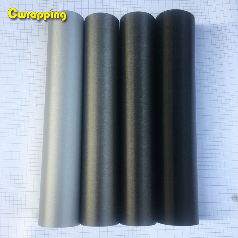 Car Styling Matt Brushed Car Wrap Vinyl Adhesive Aluminum Brush Film Motorcycle Scooter Automobiles Interiol Accessories Decal