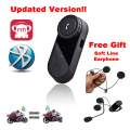 Free Ship! Latest FDC 800m BT interphone bluetooth motorcycle Motorbike helmet intercom Headset speaker + free Soft Earpiece
