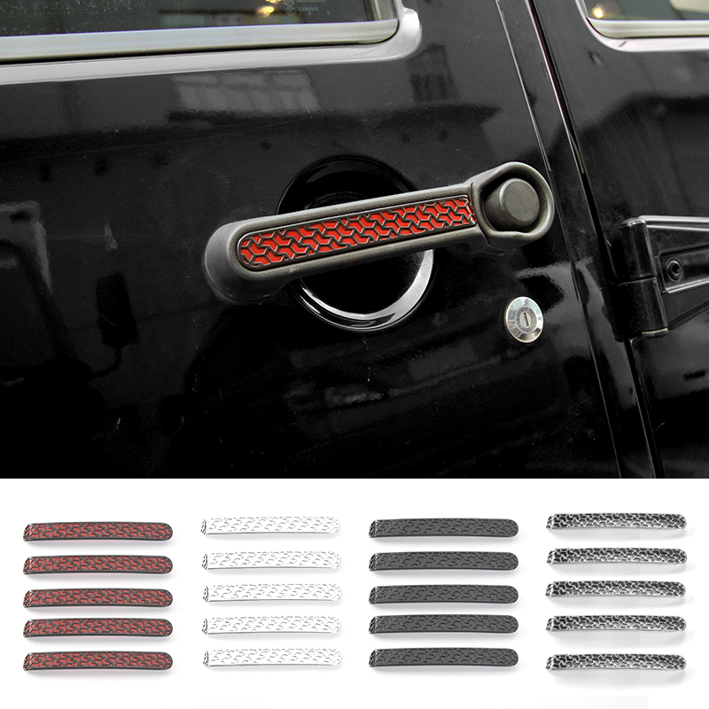 MOPAI ABS Car Exterior Decoration Accessories Door Handles Cover Trim Sticker Fit For Jeep Wrangler 2007 Up Car Styling abs exterior decoration car body door side molding trim styling for jeep renegade 2015 up