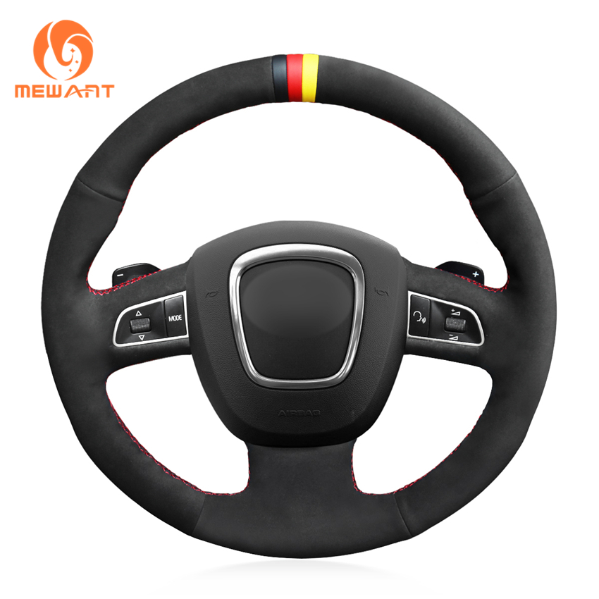MEWANT Black Suede Steering Wheel Cover for Audi A3 (8P) 2008-2013 A4 (B8) 2008-2010 A5 2008-2010 A6 (C6) 2007-2011 new card pcie 1 to 4pci express 16x slots riser card pci e 1x to external 4 pci e slot adapter pcie port multiplier card