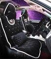 2016 nueva moda de diamantes señora winter pink alta calidad asiento de coche cubre Universal Fit 5 asientos de vehículos cojín del asiento accesorios
