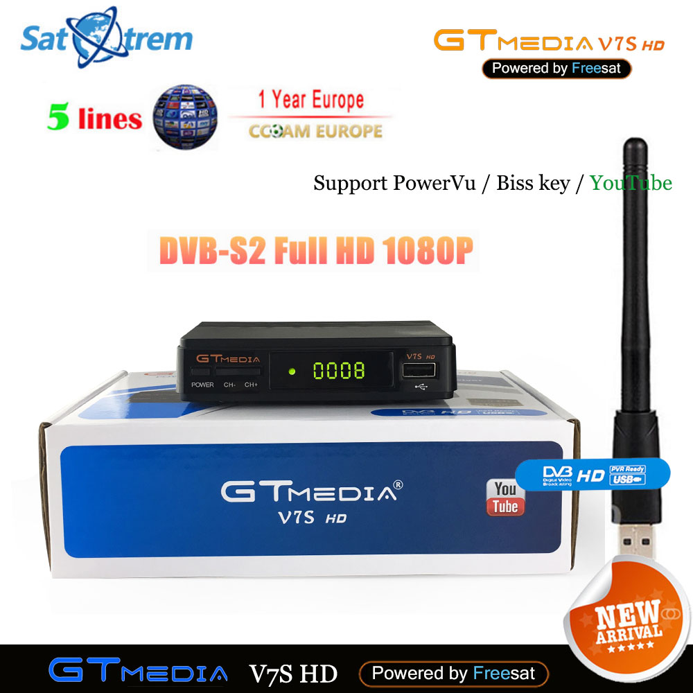 Cccam Cline For 1 Year Europe Spain DVB-S2 Freesat GTmedia V7S HD Satellite Receiver Upgrade From V7 HD DVB S2 Digital Receptor europe 5 lines cccam cline for 1 year spain germany tv for dvb s s2 satellite receiver v7 hd v8 super iks receptor