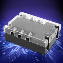 SSR 40A AC-AC Solid State Relay 3-Phase Input 90-250VAC Load 24-480VAC TSR-40AA-H white shell high quality hot sale lsr1 1 310aa 10a ac to ac 90 250vac to 24 440ac ssr thermal compound solid state relay heat sink new