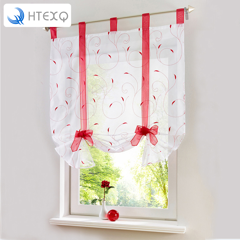New Roman Leaf Tulle Window Treatments Sheer Curtains for Living Room the Bedroom Kitchen Tyra Panel Draperies and Blinds drapes