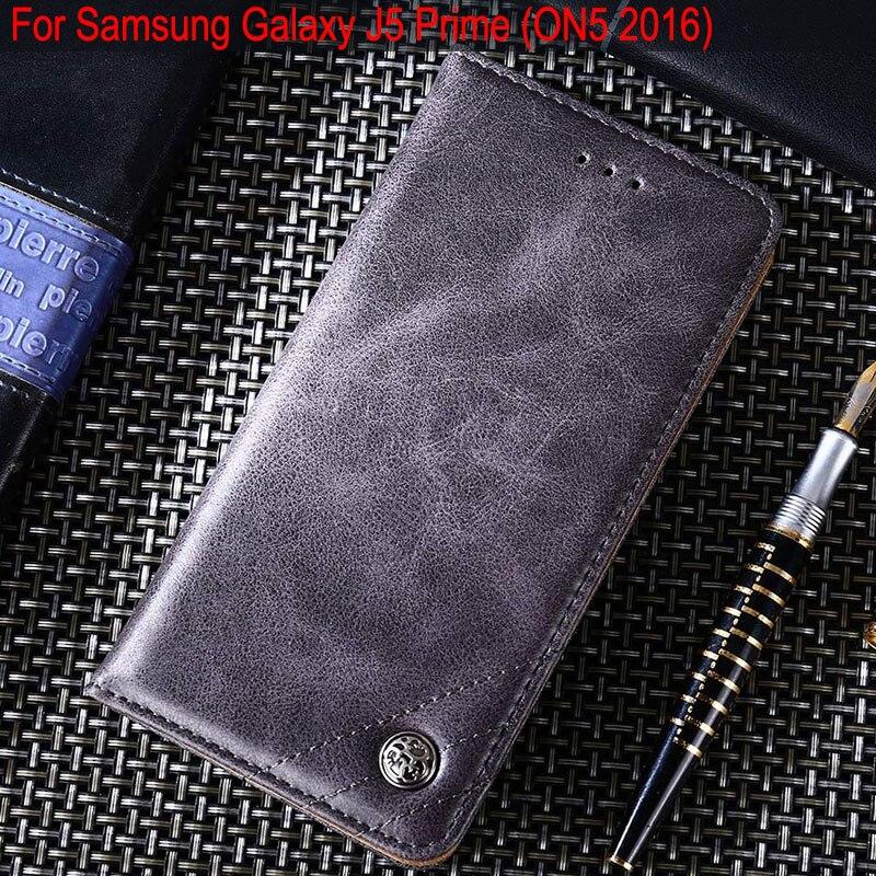 Pour samsung galaxy j5 premier cas De Luxe En Cuir Flip housse Stand Card Slot Sans aimants Cas pour samsung galaxy on5 2016