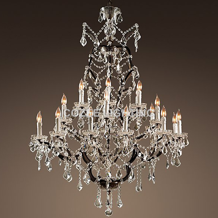 vintage crystal chandelier lighting rustic candle chandeliers light
