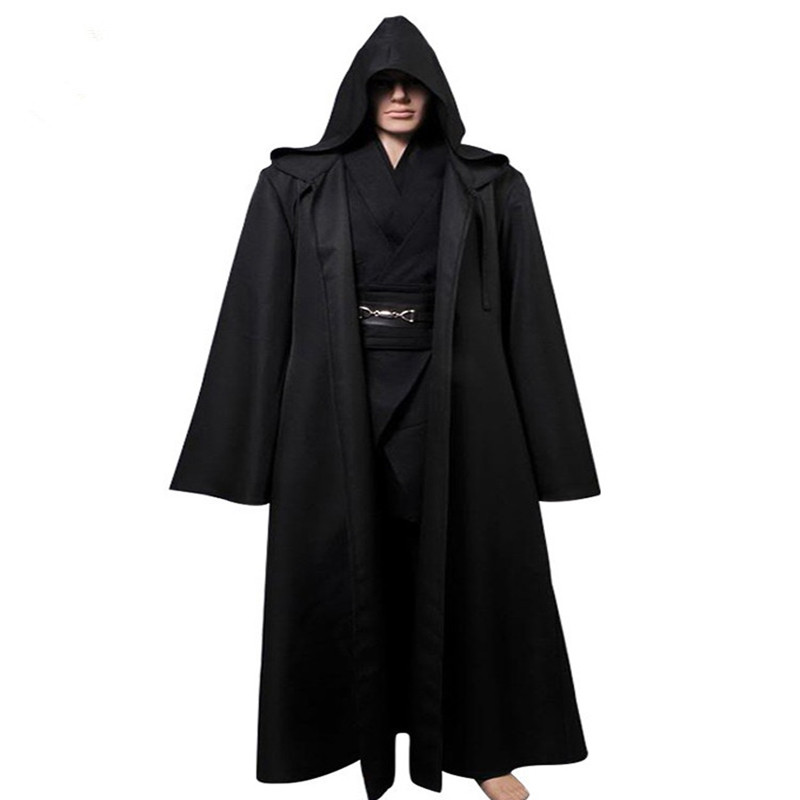 ainiel star wars anakin skywalker cosplay costume halloween costume outfit robe tunic belt pants black version full set in movie tv costumes from novelty