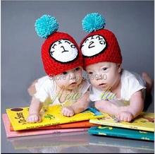 Twin Set Photo Props Hat Hand Knitting Photography Prop New Born Baby Crochet Cap Newborn