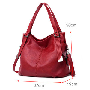 Image 2 - 2020 Large Capacity Women Messenger Bag Designer Women Bags Real Leather Luxury Ladies Shoulder Bag sac a main Lady Big Tote