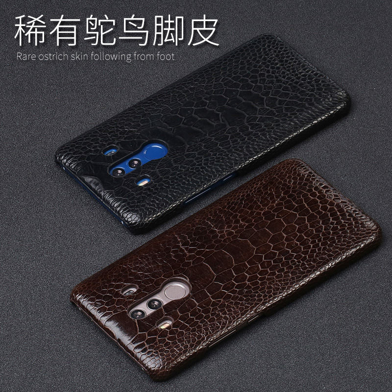 Luxury Natural Ostrich foot skin For Huawei Mate 8 9 10 Pro case Real Genuine leather Cover For P8 P9 P10 lite P Smart Nova 2S - 6